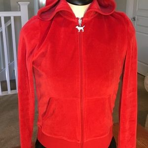 Victoria's Secret Red zippered Hoodie